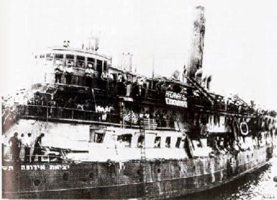 1942 yılında yahudileri taşıyan Struma yolcu gemisi