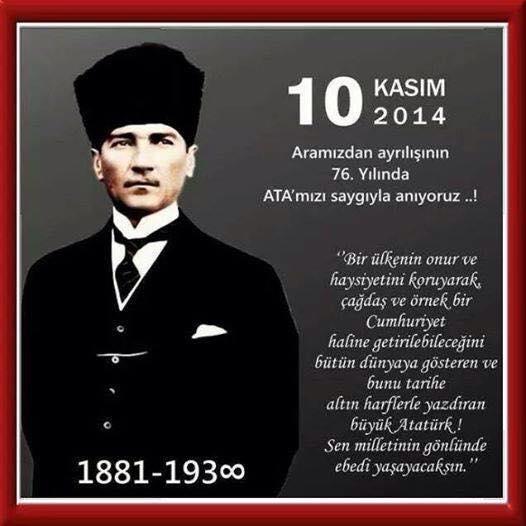 10 Kas�m Atat�rk'� Anma G�n�
