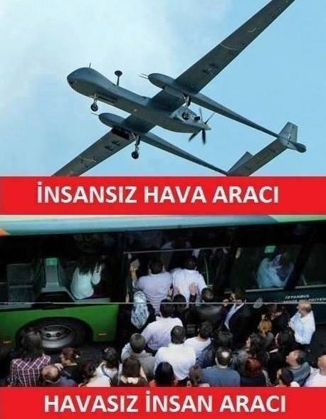 İnsansız hava aracı ve havasız insan aracı