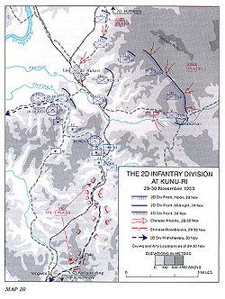 Kunu-ri Muharebesi'ndeki harekât yönleri