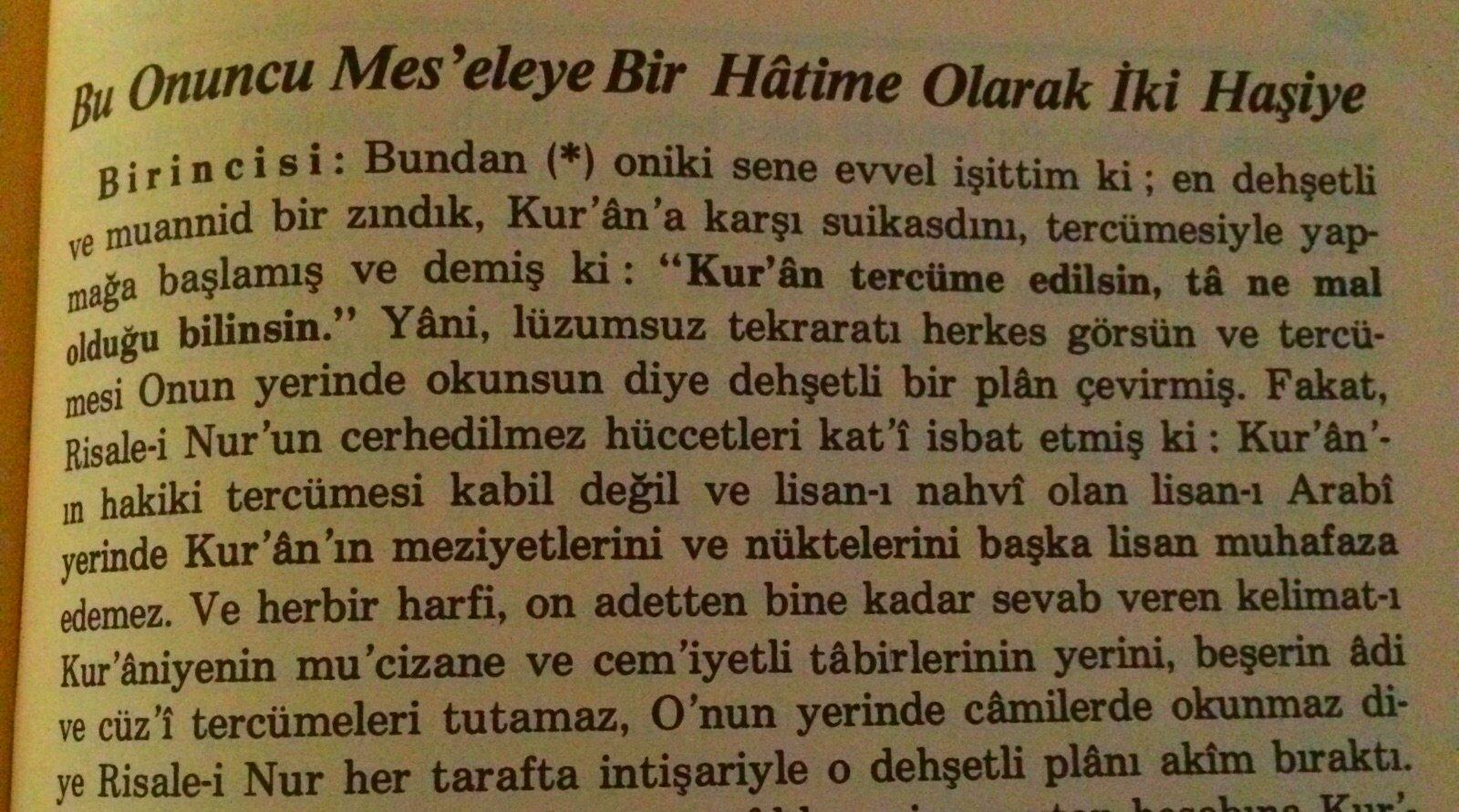 Atatürk'ün Kur'an'ı Türkçeye Çevirmesindeki Sır