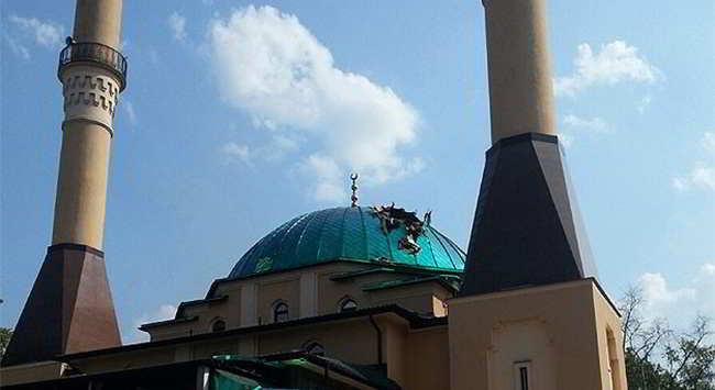 İstanbul Ahat Camisi'ne Havan Topu İsabet Etti