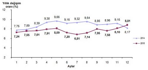 2015 Aral�k Ay� Enflasyon Oranlar� A��kland�
