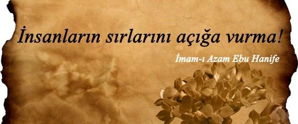 İmam-ı Âzam (rahimehullah)'dan hikmetli sözler
