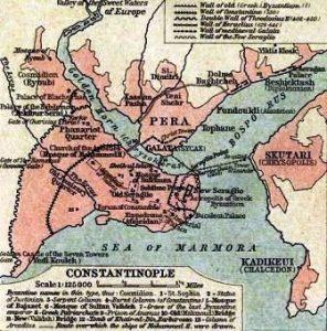 İstanbul Surları Haritası