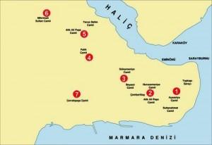 İstanbul 7 Tepe İsimleri ve Yerleri