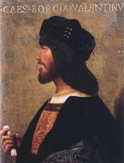 Ünlü condottiero Cesare Borgia