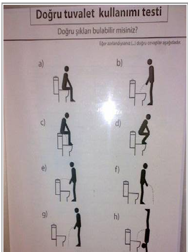 Tuvaletinizi nasil yapiyorsunuz iste B�y�k Test..