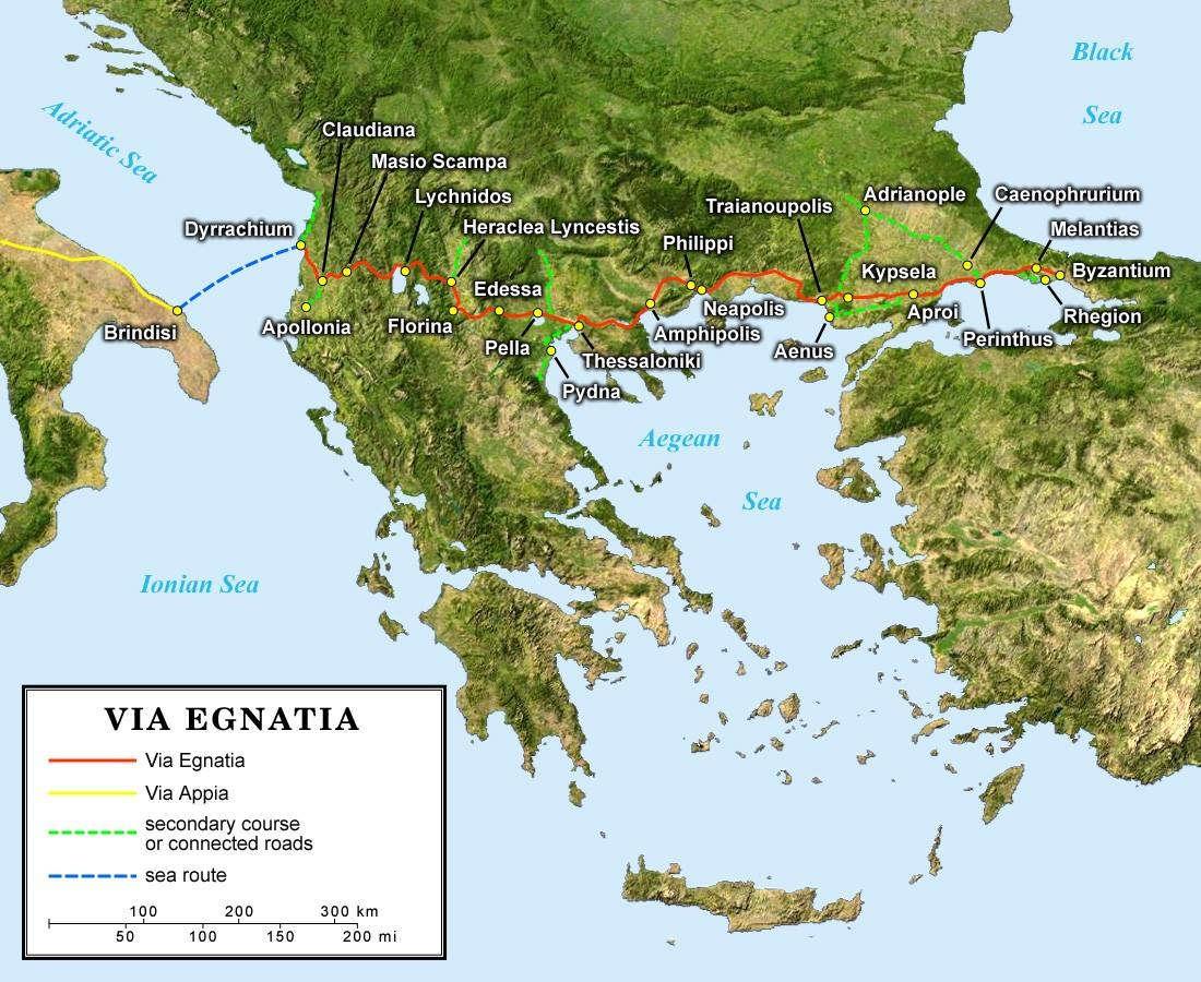 Egnatia Yolu-Balkanlar'dan Küçük Asya'ya rota