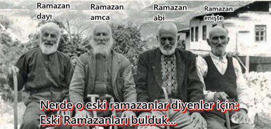 Nerde eski ramazanlar?