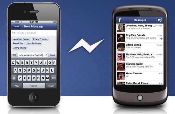 Android i�in Facebook Messenger 500 milyon indirildi