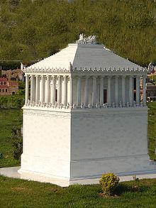 Istanbul Miniatürk'deki Mozole modeli