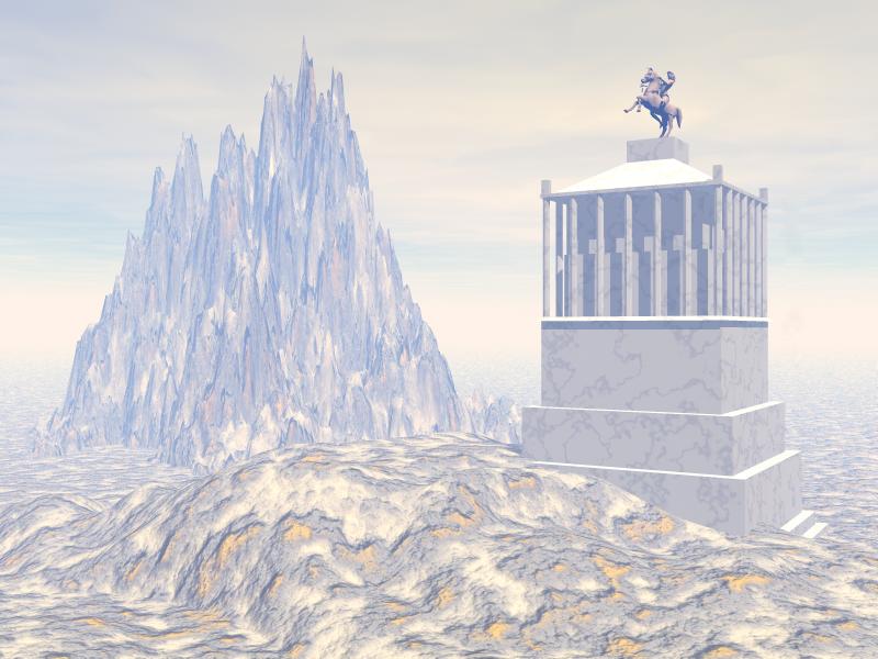 Bodrum'daki Mausoleum 3D