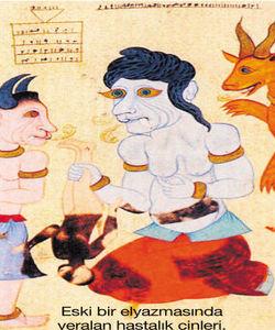 Eski bir elyazmasında yer alan hastalık cinleri