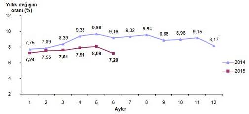 2015 Haziran Ay� Enflasyon Oranlar� A��kland�