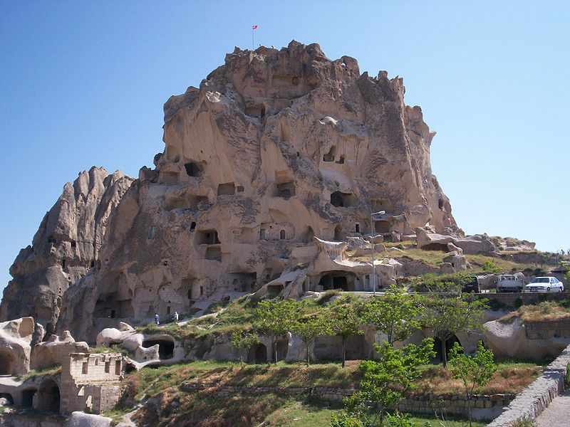 Kapadokya'dan bir g�r�n�m<br /> U�hisar Kalesi