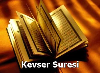 KEVSER Suresi Latin Harfli Okunuşu ve Türkçe Meali