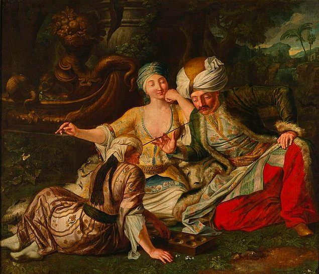1737 İstanbul, Şehzade mangala oynarken, Jean Baptiste van Mour
