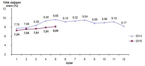 2015 May�s Ay� Enflasyon Oranlar� A��kland�
