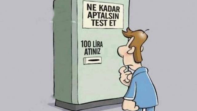 Ne kadar aptalsınız test edin :)