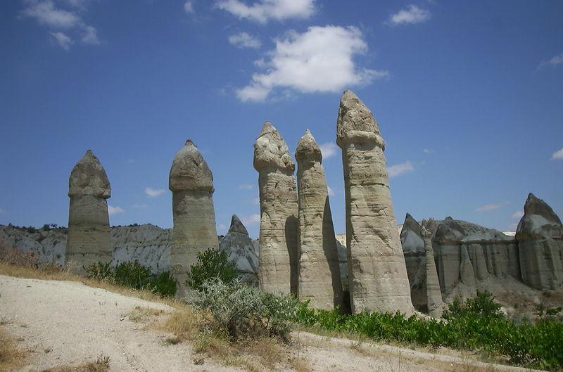 "Kapadokya'daki  ""Peri bacalar�"""