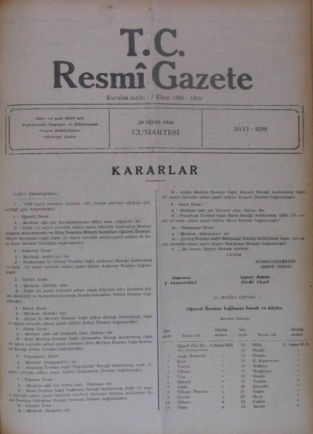TC Resmi Gazete