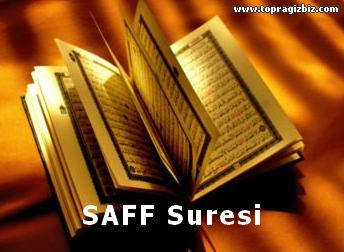 SAFF Suresi Latin Harfli Okunuşu ve Türkçe Meali