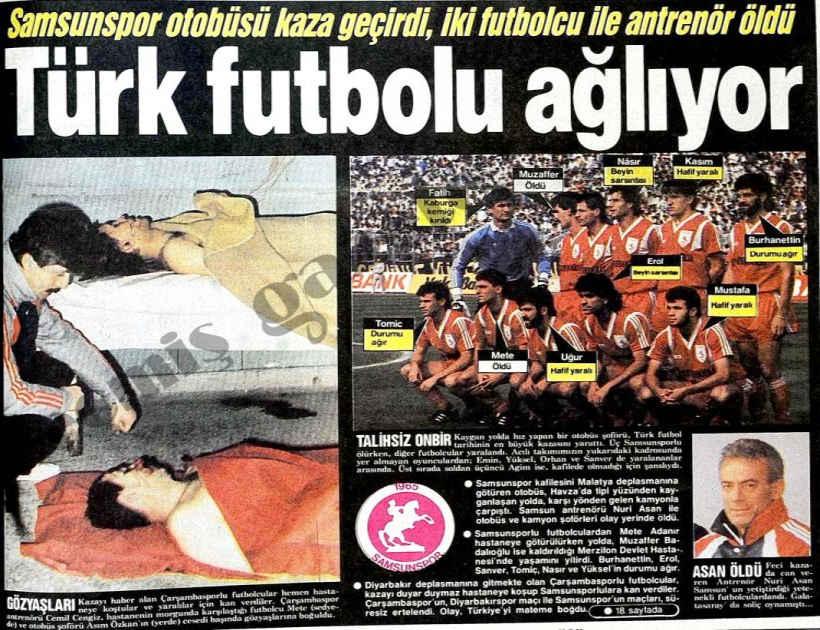 Samsunspor Trafik Kazası - 20 Ocak Faciası