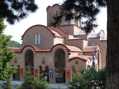 Yunanistan'da Veria'da bulunan Vermion dağındaki Sümela Manastırı