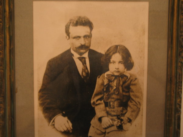 Tevfik Fikret ve oğlu Haluk