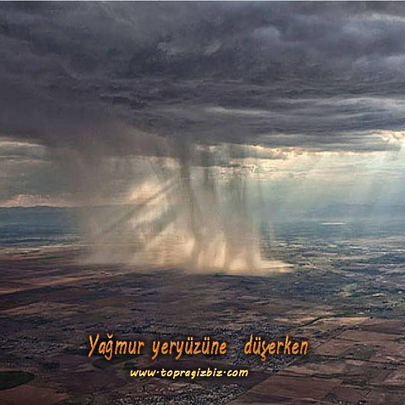 Yağmur  yeryüzüne  düşerken