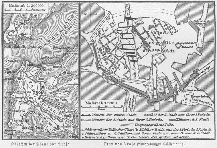 Tarihi Troya Haritasi
