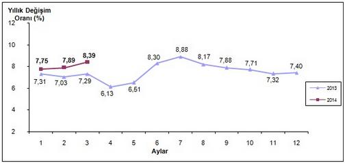 2014 Mart Ay� Enflasyon Oranlar� A��kland�