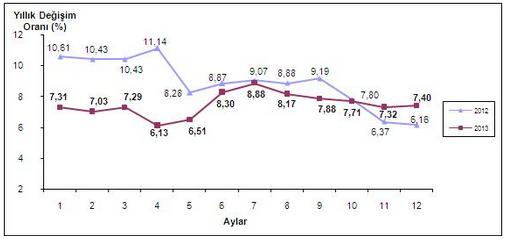 2013 Aralık Ayı Enflasyon Oranları