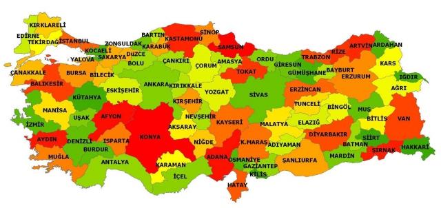 Türkiye'nin 2013 yılı nüfusu