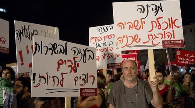 İsrail'in Gazze'de giriştiği kıyım, vicdan sahibi yahudileri de sokağa döktü.