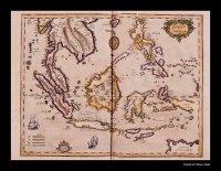 K�tip �elebi�nin Cihann�ma adl� eserinden al�nan ve �brahim M�teferrika taraf�ndan 1728'de bas�lan Hint Okyanusu ve �in Denizi haritas�