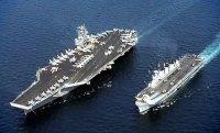 USS Stennis ve HMS Illustrious u�ak gemileri